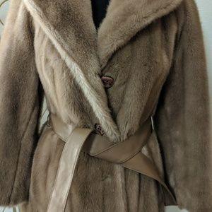 Vintage 1950s Faux Fur Coat